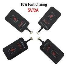 5v/2a 10w qi sem fio carregador receptor para iphone xiaomi samsung huawei adaptador de carregamento sem fio esteira para andriod tipo c