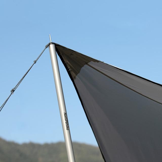 Naturerandonnée grand abri soleil 8-10 personne Camping tente parasol argent enduit auvent auvent plage bâche pour randonnée voyage pique-nique