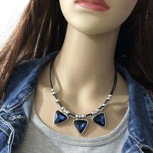 Anslow-Collar clásico de triángulo de cristal Punk para mujer, joyería de alta calidad, accesorios para mujer, LOW0098AN