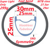 MTB Carbon Rim UD Matte 28 Holes MTB Rim High Quality 29er/27.5er 650B Bike Rim All Sizes Super Light XC MTB Carbon Bicycle Rims