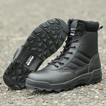 Autumn Outdoor Men Hiking Shoes Military Combat Camping Trekking Fishing Hiking Non-slip Buffer Shock Spring Breathable Shoes 2