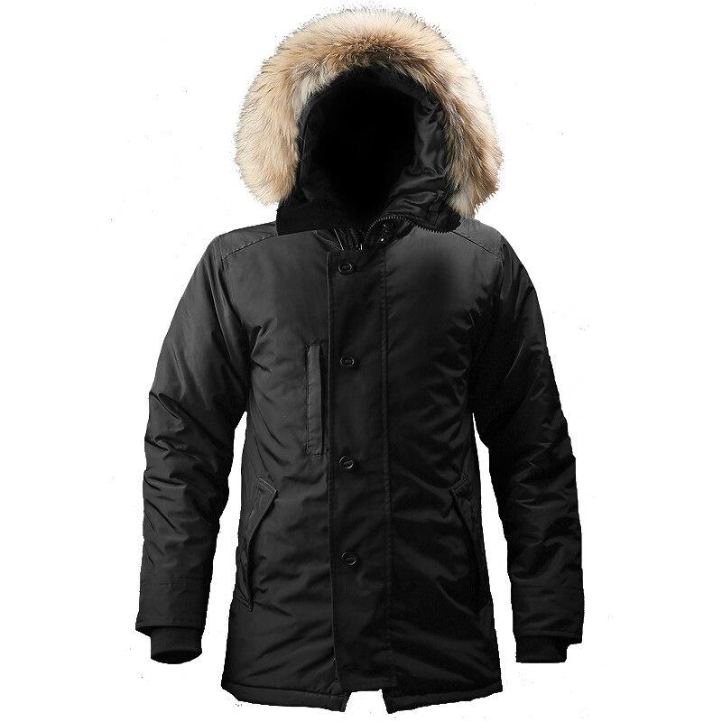 Jaqueta de inverno n3b dos homens capuz