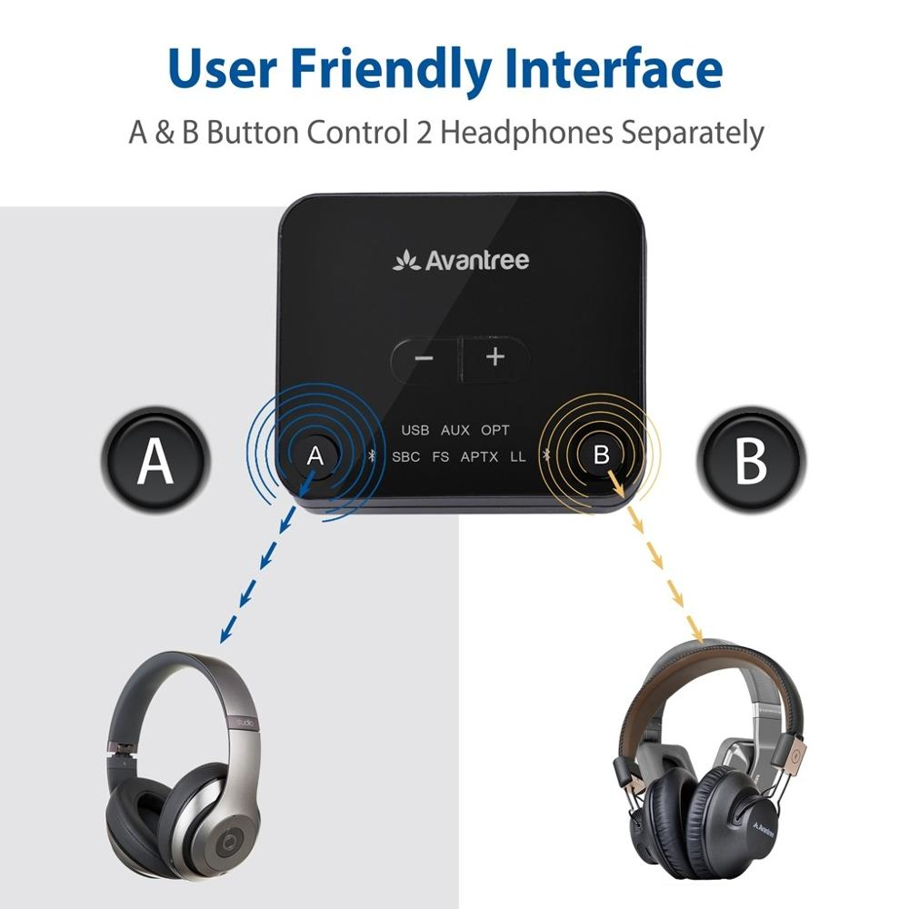 Image 3 - Avantree Bluetooth 5.0 Audio Transmitter for TV   Audikast Plus (TC418P)-in Wireless Adapter from Consumer Electronics
