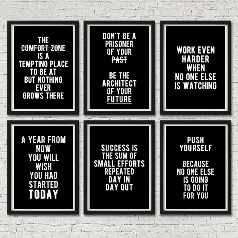 Modern Wall Art Motivational Posters and Prints Office Decor Entrepreneur Inspirational Canvas Painting Art Wall Pictures Prints