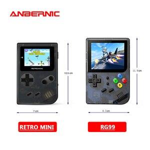 Image 1 - ANBERNIC miniconsola de videojuegos Retro, 99 videojuegos, consola de juegos Retro, regalo familiar