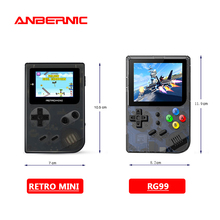 Anberonic ريترو ألعاب صغيرة الرجعية 99 لعبة فيديو لوحات المفاتيح لعبة صغيرة الرجعية لعبة وحدة التحكم لعبة فيديو هدية الأسرة المحمولة