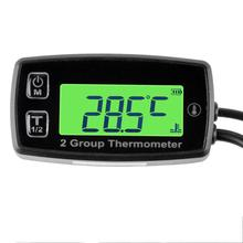 Цифровой 2 TEMP метр термометр Температура Сенсор метр для Dirt Pit Bike двигателя измеритель температуры автомобиля Температура масла RL TM004