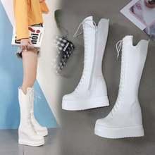Модные женские ботинки на очень высоком каблуке 12 см с толстой