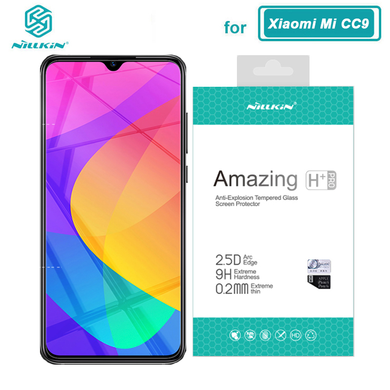 For Xiaomi Mi 9 Lite Tempered Glass Nillkin H+Pro 0.2MM 2.5D Screen Protector Glass For Xiaomi CC9 CC9E CC 9E Mi9 Mi 9 Lite