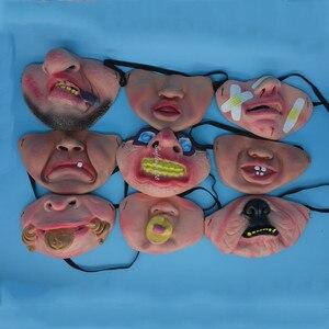 Image 4 - Забавная маска для взрослых для вечерние, латексный клоун, косплей, Полулицо, фотография, вечевечерние НКА, Рождество, подарок на день рождения, игрушка