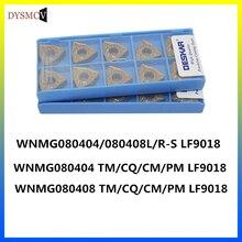 DESKAROriginal WNMG080404 TM CQ CM PM LF9018 WNMG 080408 insertos de torneado de carburo de Tungste herramienta de torno de aleación dura para acero