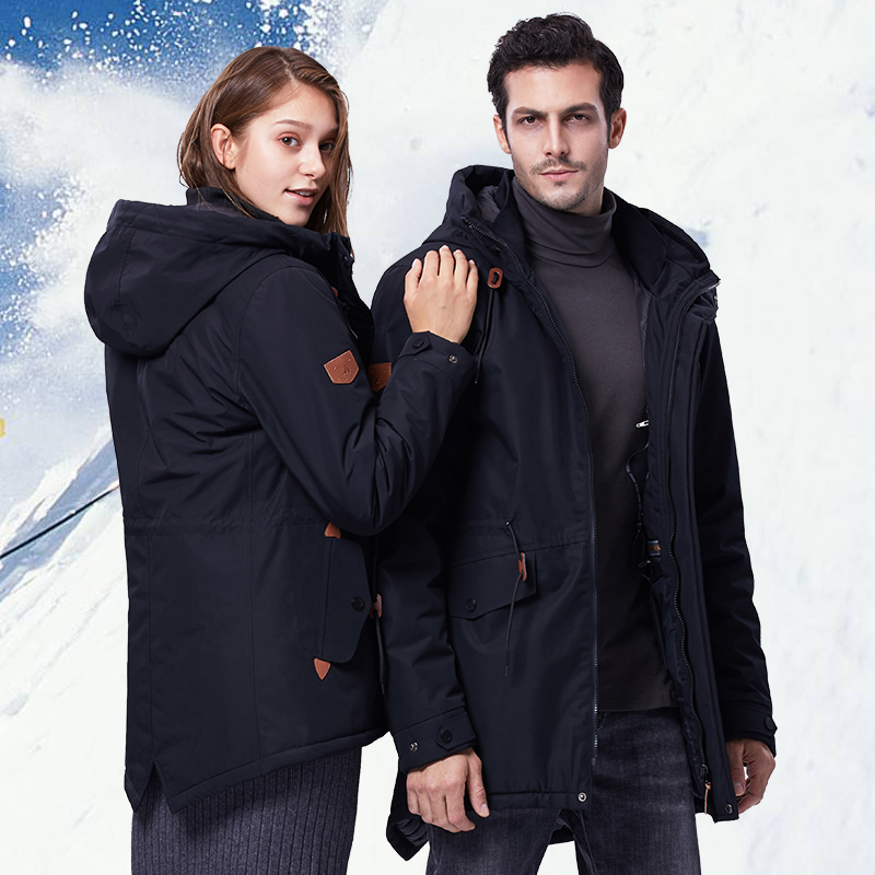 Winter Waterproof Ski Jacket For Men Women Thick USB Heating Cotton Coat Outdoor Windbreaker Snowboard Jacket Plus Size Brand