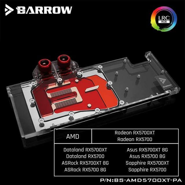 بارو BS AMD5700XT PA ، غطاء كامل بطاقة جرافيكس كتل تبريد المياه ، لشركة أيه إم دي مؤسس الطبعة راديون RX5700XT/RX5700