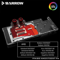 Barrow BS-AMD5700XT-PA  Full Cover Graphics Card Water Cooling Blocks For AMD Founder Edition Radeon RX5700XT/RX5700