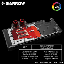 Barrow BS AMD5700XT PA, tarjeta gráfica de cubierta completa bloques de refrigeración por agua, para AMD Founder Edition Radeon RX5700XT/RX5700