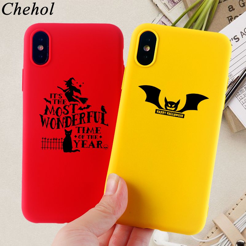 Luxury Phone Cases for IPhone 11 8 7 6s Plus Pro X XS MAX XR Case Halloween Bat Soft Silicone TPU Fitted Back Covers Accessories in Fitted Cases from Cellphones Telecommunications