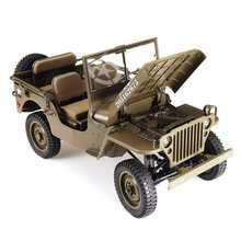 ROCHOBBY-coche teledirigido a escala 1:6, 2,4 Ghz, 2 canales, 1941MB, escarificador, coche teledirigido impermeable, modelos completamente proporcionales, Crawler Toys