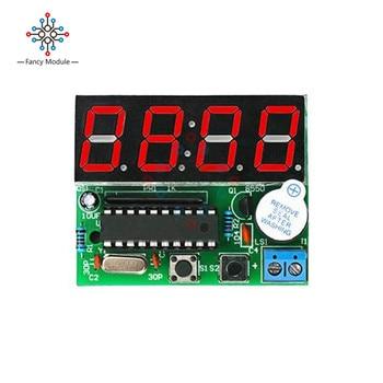 цена на diymore AT89C2051 C51 4 Bits Electronic Clock Electronic Production Suite DIY Kits C51 Electronic Clock