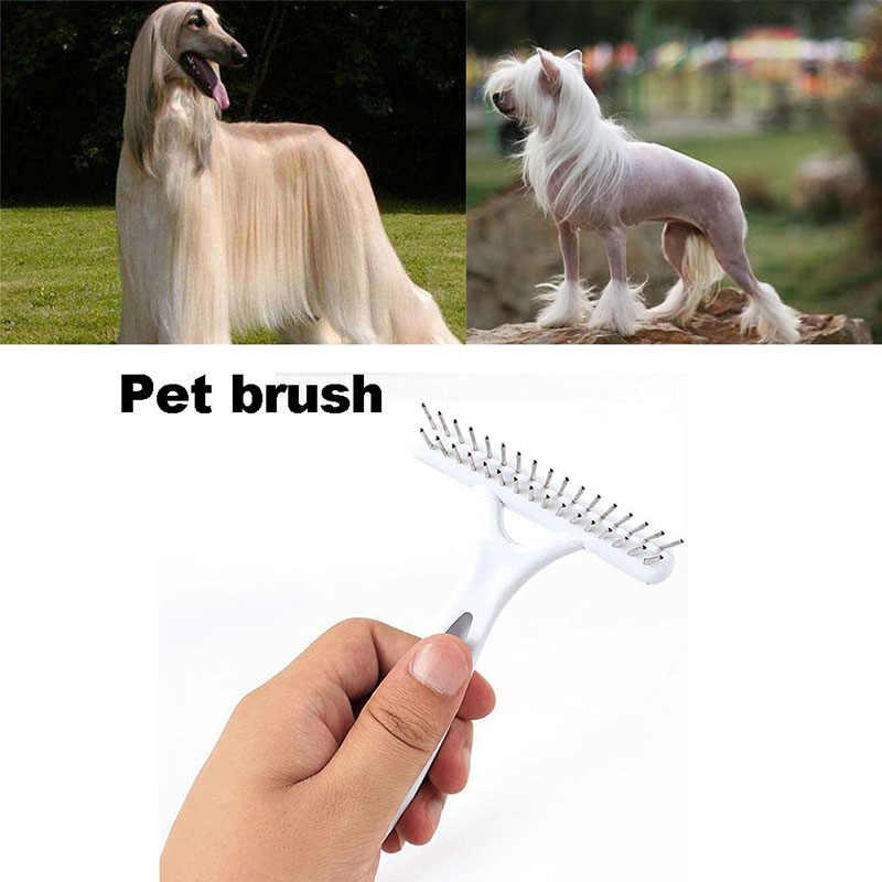 כלב בית חיות מחמד פרווה שפיכת להסיר לגרוף מברשת קומבס כלבי אספקת חיות מחמד מברשת נקי כלי לחיות מחמד שיער יומי אכפתיות קטן כלים