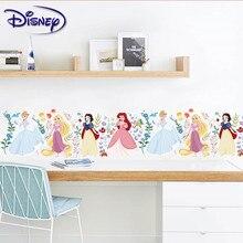 Дисней наклейка принцесса мультфильм наклейка s гостиная спальня линия талии декоративные наклейки s детская комната подарок