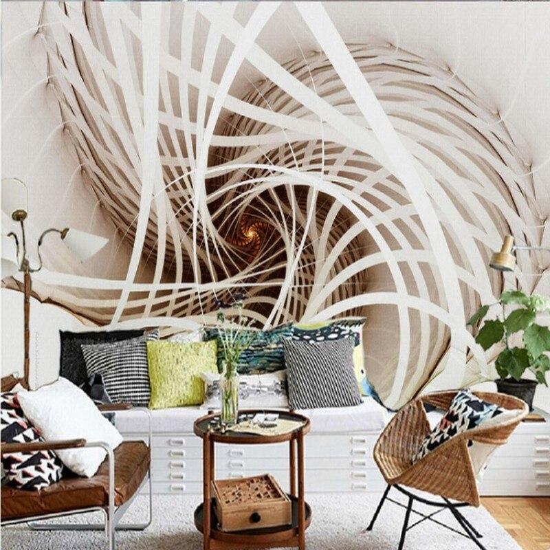 Drop Shipping Custom Wall Mural Custom White Abstract Oil Paintings  Decorative Mural Living Room Bedroom Restaurant Wallpaper