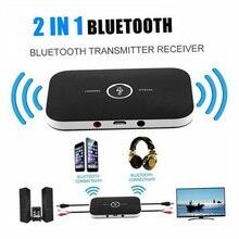 Receptor y transmisor de Audio B6 2 en 1, inalámbrico por Bluetooth 4,1, adaptador de 3,5mm para PC, Smartphone, receptor y transmisor Bluetooth Aux