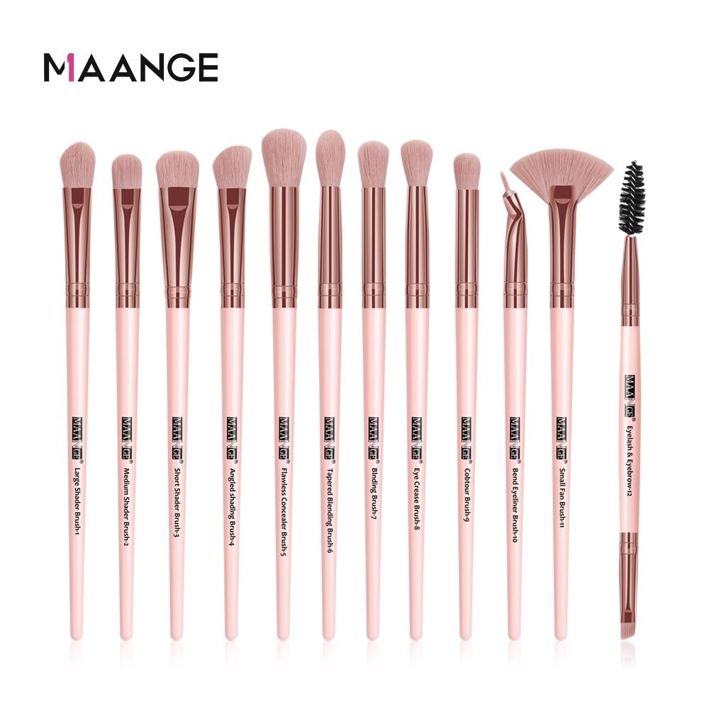MAANGE Pro 3/5/12 Pcs Makeup Brushes Set Eyeshadow Eyeliner Eyelash Eyebrow Brush Beauty Make up Blending Tools Maquiagem 1