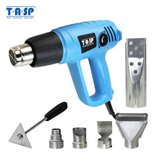 TASP 2000W Heteluchtpistool Electric Heat Gun-Variabele Temperatuur 60 ~ 600C-BBQ Aansteker-5 nozzles & Schraper Power Tools(China)