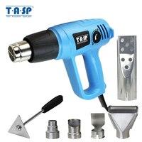 TASP 2000W Hot Air Gun Electric Heat Gun Variable Temperature 60~600C BBQ Lighter 5 Nozzles & Scraper Power Tools