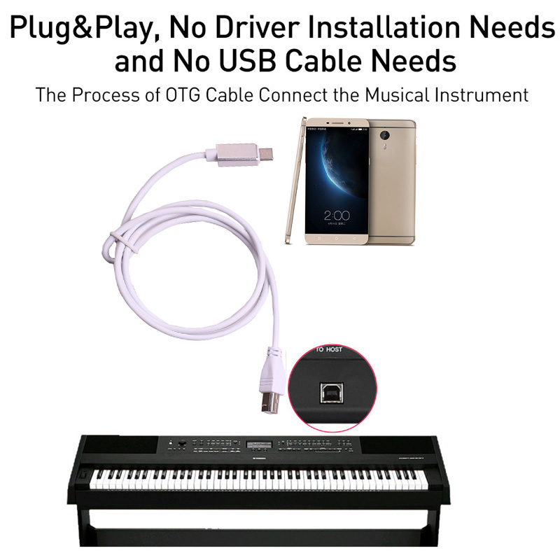 Type C to USB Type B Cable Connection Lead For HP Canon Brother Epson Printer Phone Link to Piano Electronic Drum MIDI Keyboard