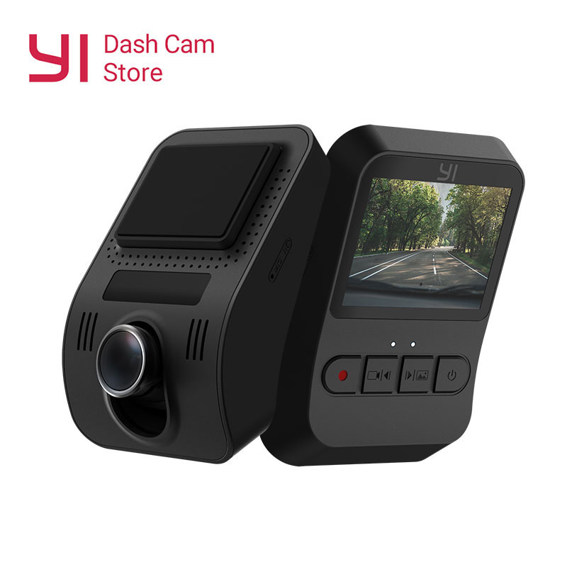YI Mini caméra de tableau de bord Full HD 1080P vidéo voiture DVR WiFi enregistreur Version internationale 30fps conception discrète 2.0 écran LCD noir