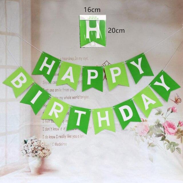 Зеленого цвета с принтом «Черепашки-ниндзя» латексные шары Hero воздушные шары в форме животных Happy ко дню рождения, баннер Baby Shower вечерние декор для маленьких мальчиков Дети пользу игрушки ребенка Globos-1