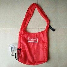 Fashion Creative Foldable Grocery Bag Folding Shopping Organizer Storage Reusable Shoulder Bag Large Capacity Handle folding bag