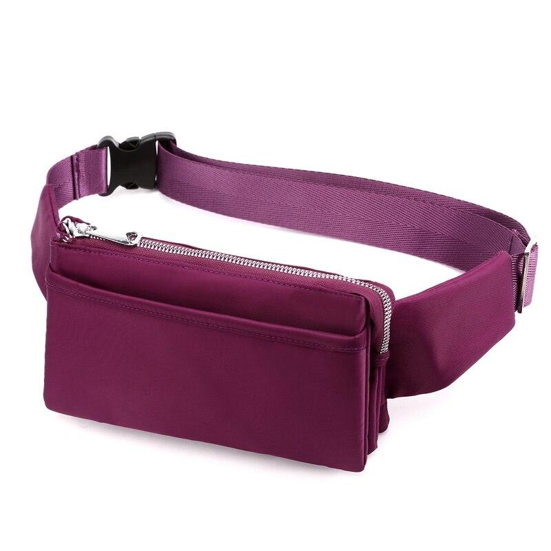 Fashion Waist Pack Waterproof Nylon Money Belt Bag Female Purse Fanny Pack Small Women Waist Bag Fashion Phone Pouch Belt Pillow