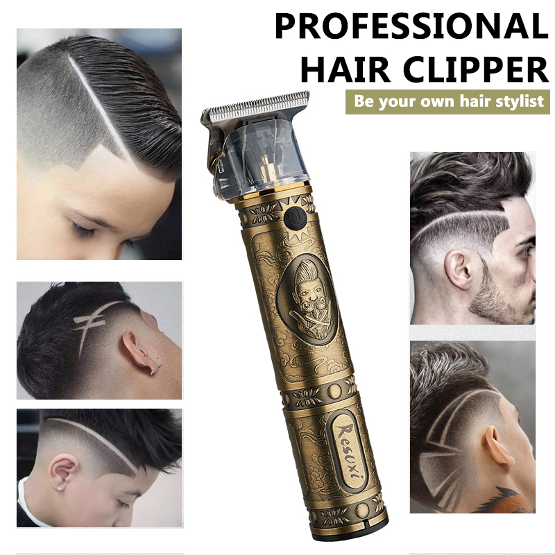 Kemei Hair Trimmer Rechargeable Electric Hair Clipper Barbershop Cordless 0mm T-blade Baldheaded Outliner Finishing Hair Cutter