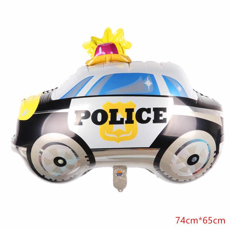 XXYYZZ6pcs קריקטורה רכב אלומיניום רדיד בלון אש אמבולנס כבאית מים טנק אוויר כדור ילדי צעצוע קישוט מסיבת יום הולדת bal