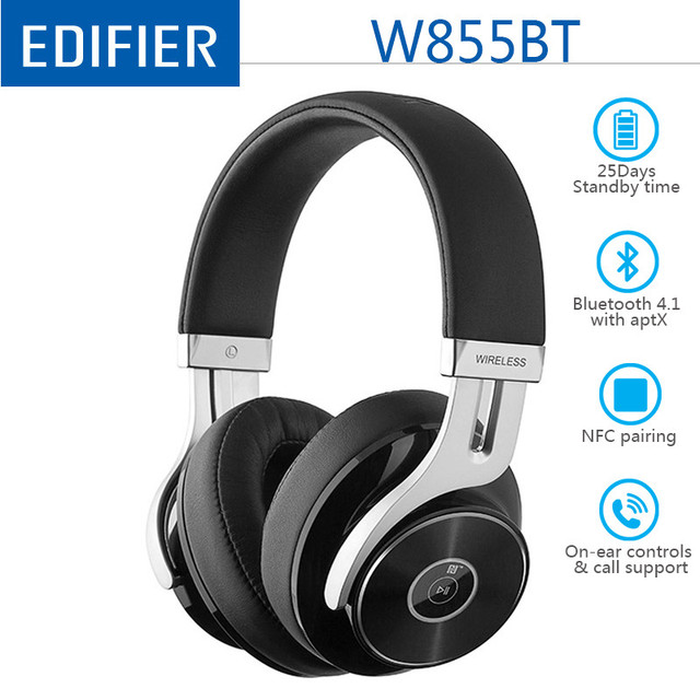 Edifier W855BT / W830BT سماعة لاسلكية تعمل بالبلوتوث 4.1 سماعات ستيريو ايفي اللاسلكية سماعة مزودة بميكروفون سماعة الألعاب