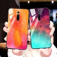 silicone case Tempered Glass Case For xiaomi mi 8 9 SE mix 2s Cases Space Silicone Covers for xiaomi mi 8 lite Pocophone F1 redmi K20 cover (1)