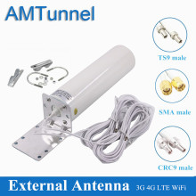 WiFi antenna CRC9 4G LTE antena SMA 12dBi Omni antenne 3G TS9 male 5m dual cable 2.4GHz for Huawei B315 E8372 E3372 ZTE routers