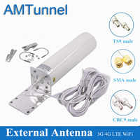 Antena WiFi CRC9 4G LTE antena SMA 12dBi Omni antenne 3G TS9 hombre 5m cable dual de 2,4 GHz para Huawei B315 E8372 E3372 ZTE routers