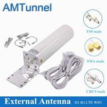 4G WiFi antenna CRC9 LTE antena SMA 12dBi Omni antenne 3G TS9 male 5m dual cable