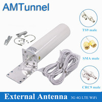 4G Wifi Antenne CRC9 Lte Antena Sma 12dBi Omni Antenne 3G TS9 Mannelijke 5 M Dual Kabel 2.4 ghz Voor Huawei B315 E8372 E3372 Zte Routers