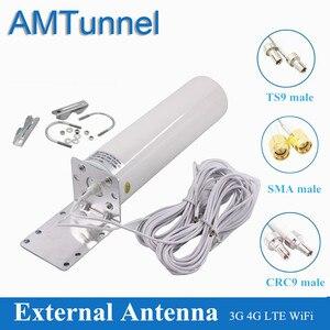 Image 1 - Antena 4g lte antena exterior sma 12dbi omni antena 3g ts9 macho 5m 2.4ghz crc9 para huawei b315 e8372 e3372 zte roteadores