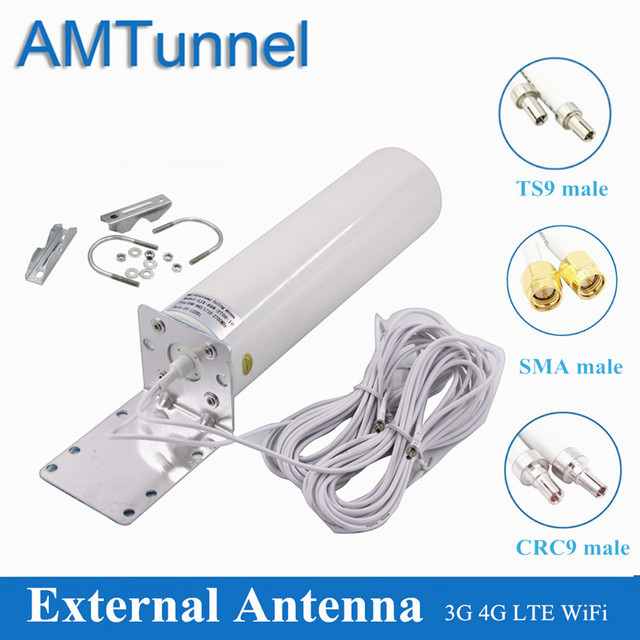 Antena 4g lte antena exterior sma 12dbi omni antena 3g ts9 macho 5m 2.4ghz crc9 para huawei b315 e8372 e3372 zte roteadores