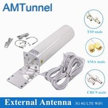 Antenne 4G Lte Antena Outdoor Sma 12dBi Omni Antenne 3G TS9 Mannelijke 5M 2.4Ghz CRC9 Voor huawei B315 E8372 E3372 Zte Routers