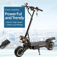 Halo Knight Powerful 60V 5600W Electric Scooter With Seat 11inch Off Road Dual Motor EScooter Foldable Adult  85KM/H Motorcycle
