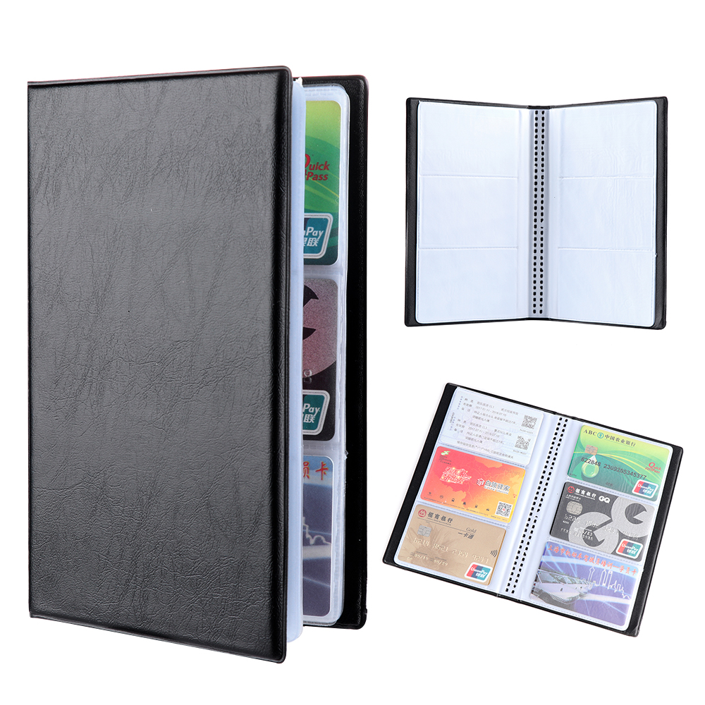 Чехол-органайзер для банковских карт, из ПУ кожи, 120/180/240/300