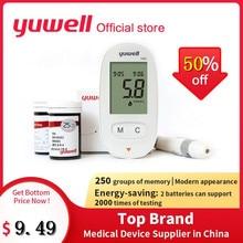 Yuwell 580 измеритель уровня глюкозы в крови диабетический измеритель уровня сахара в крови домашний 580+ 50/580+ 100/100 шт тест-полоски