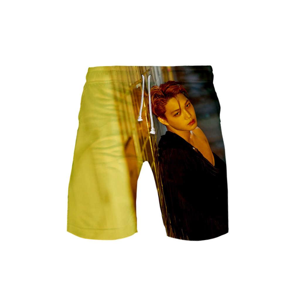 Kpop SuperM, новинка, Стильные пляжные шорты с 3D принтом, в стиле хип-хоп, крутые, модные, летние шорты, базовые, удобные, уличные, повседневные, популярные шорты
