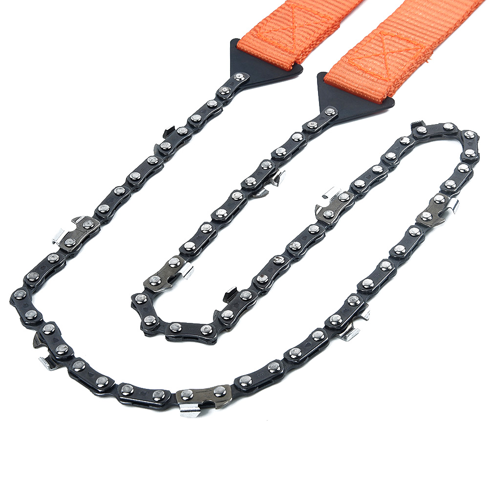 65cm Steel Teeth Survival Hand Chain Saw With Belt Bag Pouch For Camping Outdoor Hiking Survival Pocket Home Tool